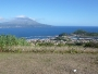 Pico seen from Faial. with city of Horta in the foreground.