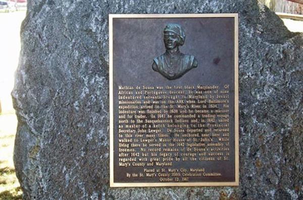mathias de sousa first portuguese american on record