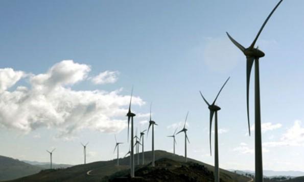 Europe's biggest wind energy park in the northern region of Viana do Castelo, Portugal. Photograph: Estela Silva/EPA