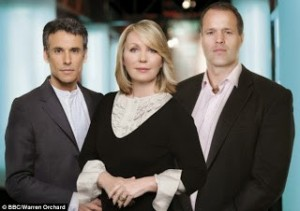 Matthew Amroliwala, Kristy Young and Martin Bayfield are the three presenters of the BBC Crimewatch show airing on October 14.