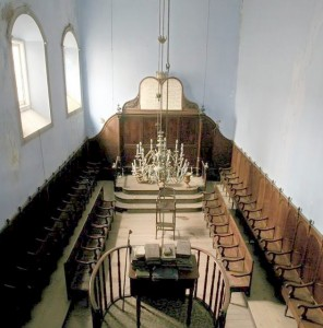 The Synagogue of Ponta Delgada was built indoors, inside a residence, concealed from public view.