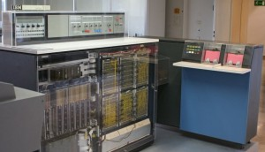 An IBM System/360-20 (with front panels removed), with IBM 2560 Multi-Function Card Machine