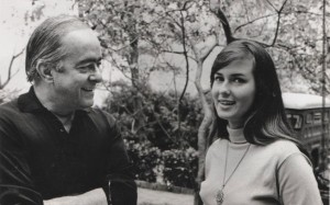 "Vinicius de Moraes with Heloísa Eneida Menezes Paes Pinto (born 1943), the real life ""Garota de Ipanema"". Later she married, became Helô Pinheiro, and was Brazilian Playboy Playmate in 1987 and once again in 2003."