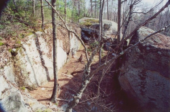 The Pigpen, a natural rock enclosure on the Robert Frost Trail (Massachusetts).