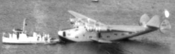 "Pam Am's Boeing 314 ""Yankee Clipper"" in Horta, Fayal, in 1939"