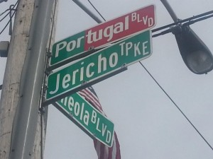 Jericho Tpke was renamed Portugal Blvd. for the day.(Photo by Gabriel Marques)
