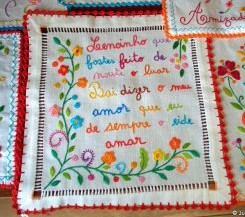 Embroidered love handkerchiefs