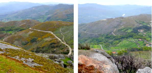Views of Peneda Gerês National Park from the Castelo da Nóbrega peak.
