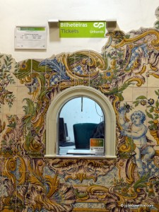 Azulejos, Sintra train station ticket window