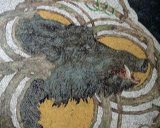 Boar mosaic, Quinta da Regaleira, Sintra
