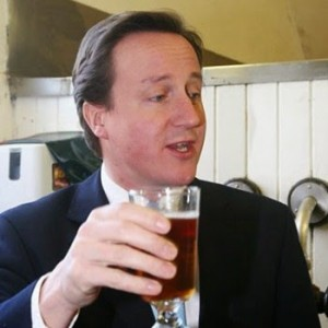 British premier David Cameron prefers bitter beer...