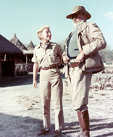 Ernest and Mary Welsh Hemingway on safari, 1953-54