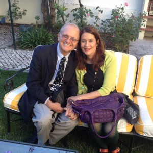 Katherine Vaz with Christopher Cerf in Lisbon, Portugal, 2014