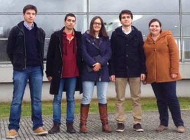 The Portuguese Seed team: From left to right: Daniel Carvalho, Guilherme Aresta, Teresa Araújo, Miguel Ferreira and Raquel Almeida. Not in the picture Miguel Valbuena, Jack van Loon and Maria Helena Carvalho.
