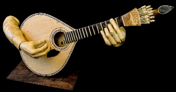 """Guitarist's hands"". Wood sculpture by Joao Martins."