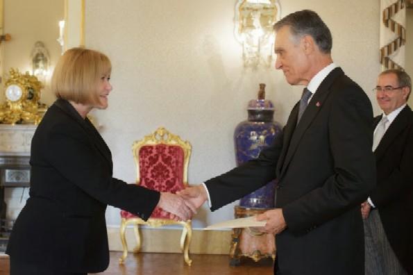 Ambassador Anne Webster and President  Cavaco Silva
