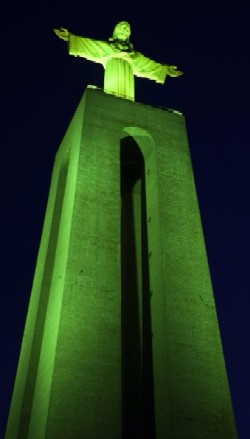 Cristo Rei monument in Almada, overlooking Lisboa from across the Tejo estuary.