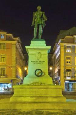 General Duque da Terceira monument in the Cais do Sodré plaza, Lisbon.