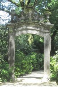The remains of an 18th century gate.