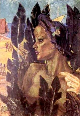 """Pedro Luiz Correia de Araújo's painting """"Conquistadores e Conquista."""""""