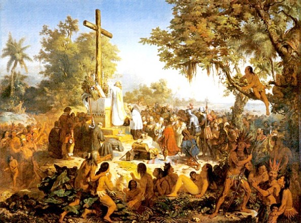 "Vitor Meireles's painting ""A Primeira Missa."""