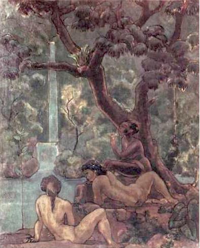 """Paisagem Verde"", oil on canvas by Pedro Luiz Correia de Araújo."