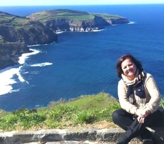 Lélia Pereira in the Azores.