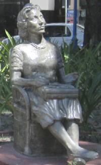 Statue of Clarice Lispector — Praça Maciel Pinheiro in Recife, Pernambuco, Brazil.