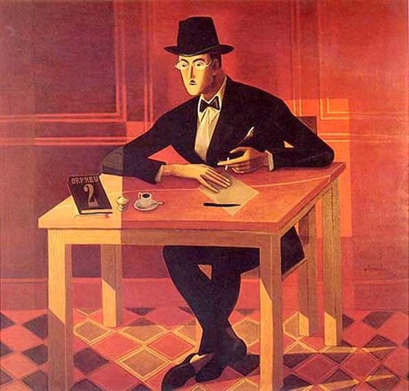 Fernando Pessoa. Oil by Almada Negreiros.