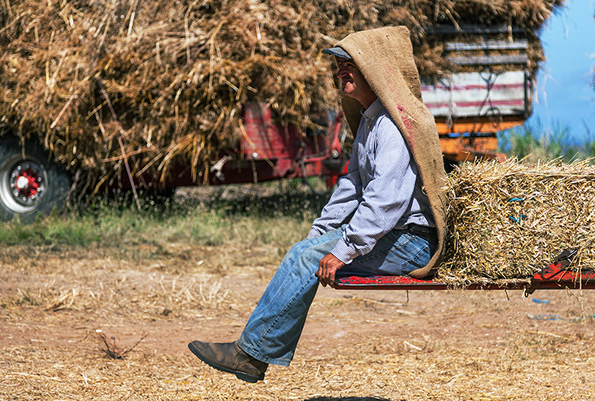 Farmer taking a break.