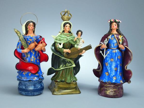 Portuguese popular art: Santa Rufina, Santa Cecília and Santa Filomena.