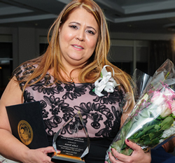 Lidia Souza received the MAPS Manuel N. Coutinho Outstanding Volunteer Award