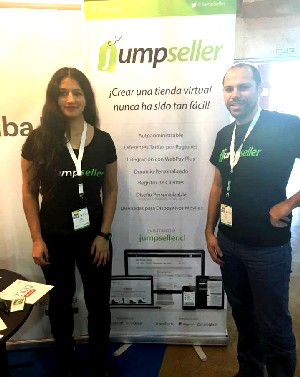 Elsa Paredes, head of Web Design, and Tiago Matos, Jumoseller.com co-founder.
