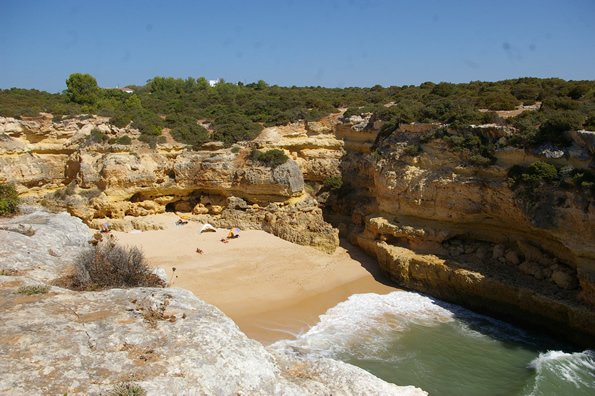 Praia da Marinha, considered by the Michelin Guide and other travel organisations to be one of the top ten beaches in Europe and among the most beautiful coastal settings in the world