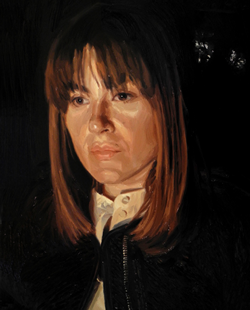 Portrait at night (2016), oil on canvas, 28.5inx23in