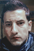 Self-portrait (2012), oil on canvas, 19inx13in