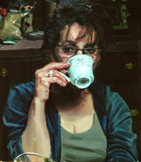 Coffee (2009), oil on canvas, 20inx15in